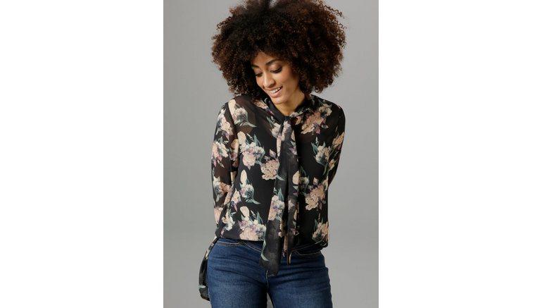 Aniston SELECTED lange blouse met strik – nieuwe collectie