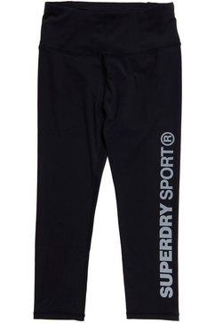 superdry sport legging training essential capri met ritszak zwart