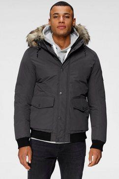 jack  jones outdoorjack sky bomber jacket grijs