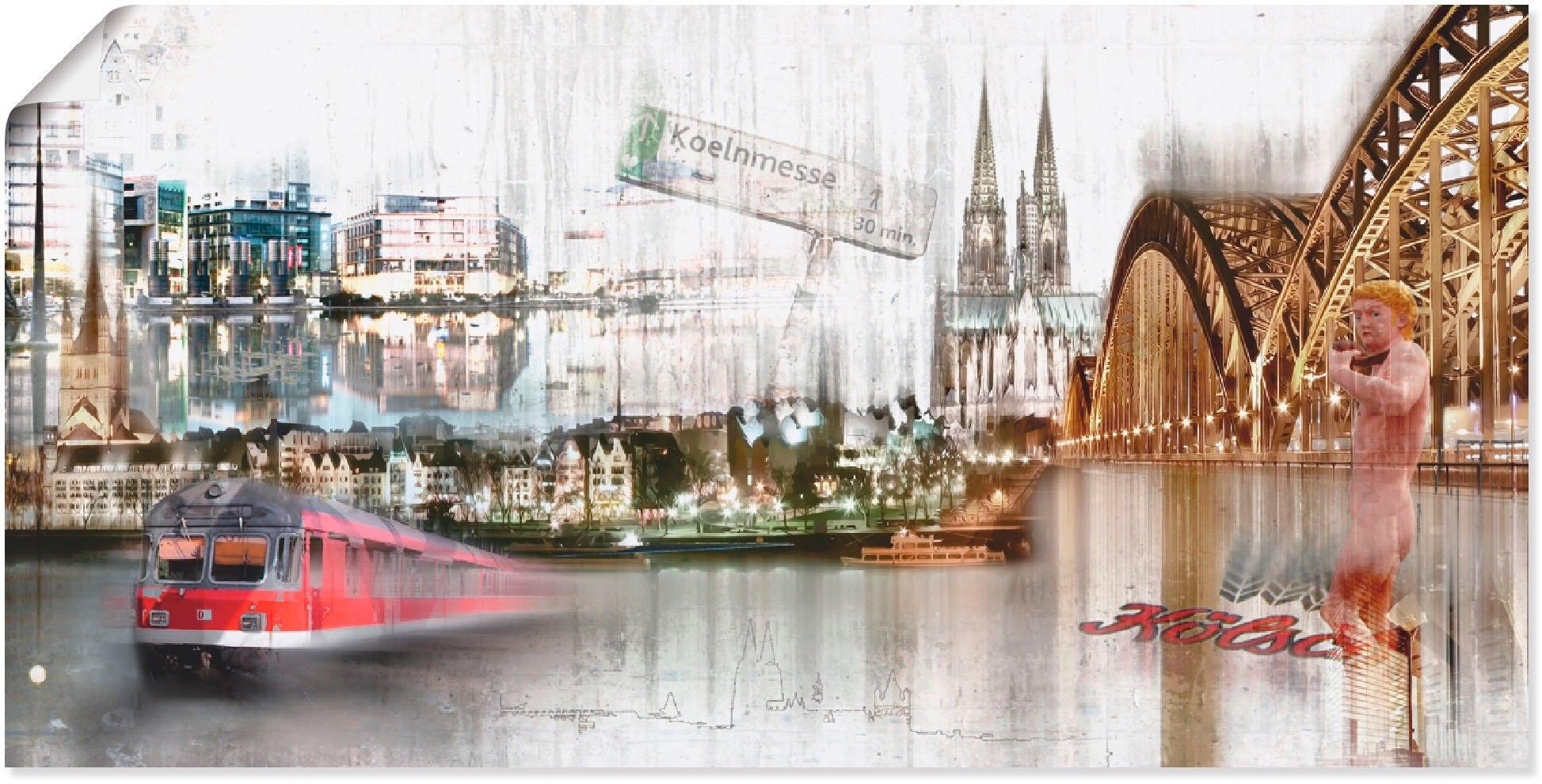 Artland artprint Keulen Skyline collage I in vele afmetingen & productsoorten -artprint op linnen, poster, muursticker / wandfolie ook geschikt voor de badkamer (1 stuk) in de webshop van OTTO kopen