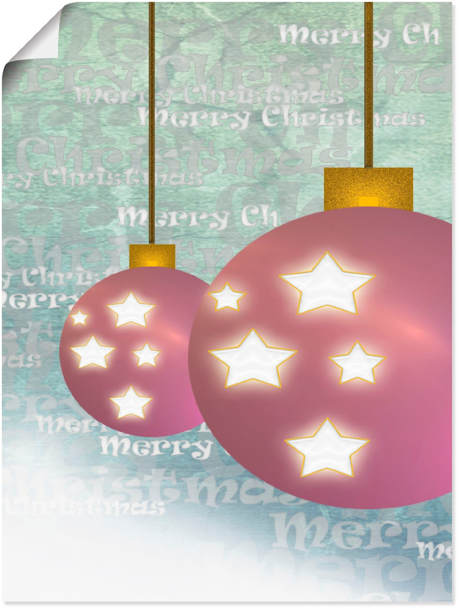 Artland Artprint Kerstbal in vele afmetingen & productsoorten - artprint van aluminium / artprint voor buiten, artprint op linnen, poster, muursticker / wandfolie ook geschikt voor de badkamer (1 stuk) nu online kopen bij OTTO