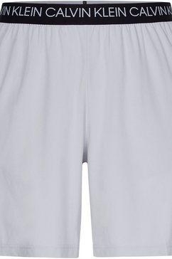 "calvin klein performance trainingsshort 7"" woven shorts grijs"