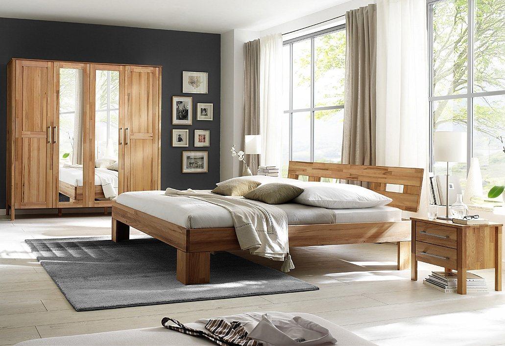 HOME AFFAIRE, 4-delige set slaapkamermeubelen, Modesty I met 4-deurs kast, naar keuze met spiegel