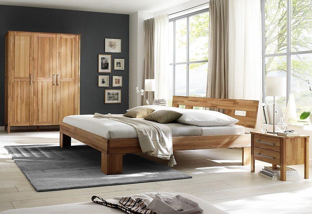 HOME AFFAIRE, slaapkamermeubel in 4-delige set, Modesty I met 3-deurs kast, naar keuze met spiegel
