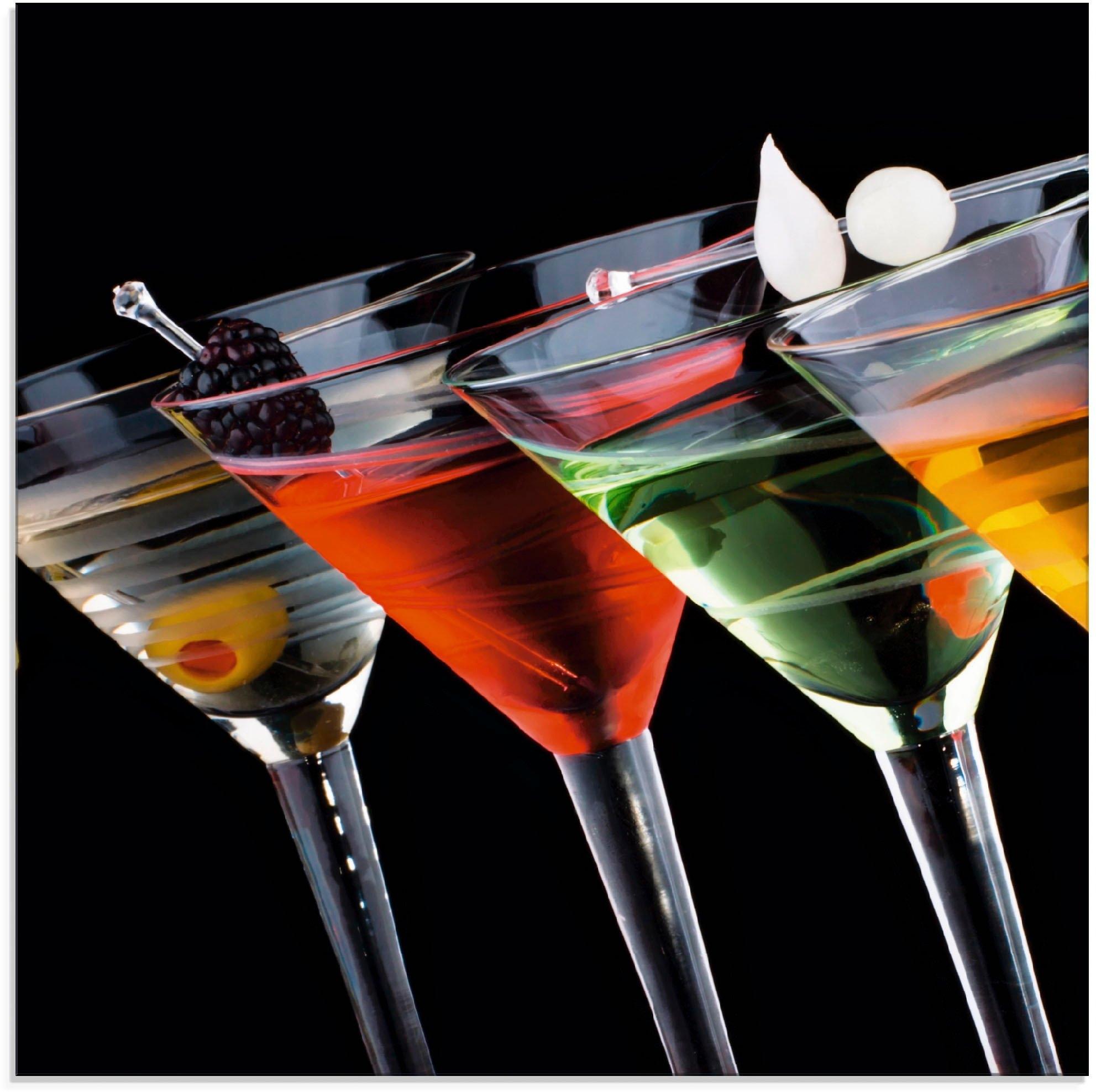 Artland Print op glas Klassieke Martini - cocktail (1 stuk) online kopen op otto.nl