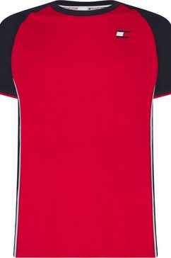 tommy sport runningshirt »slim fit raglan training tee« rood