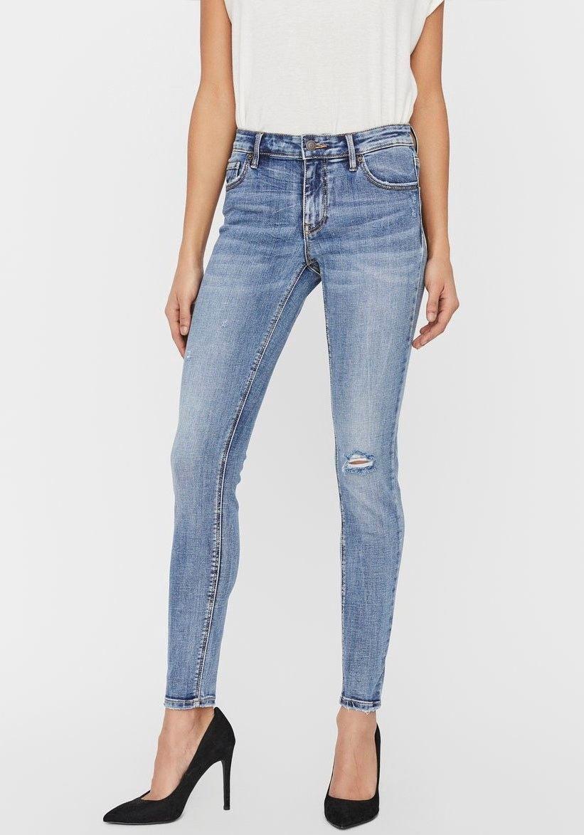 Vero Moda skinny fit jeans VMLYDIA DESTROYED - verschillende betaalmethodes