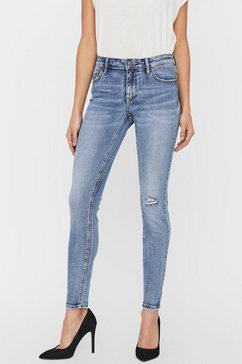 vero moda skinny fit jeans »vmlydia destroyed«