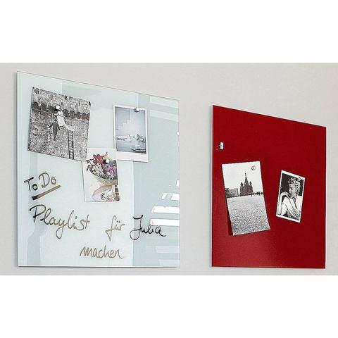 Glasbord Sigel magnetisch 480x480x15mm rood