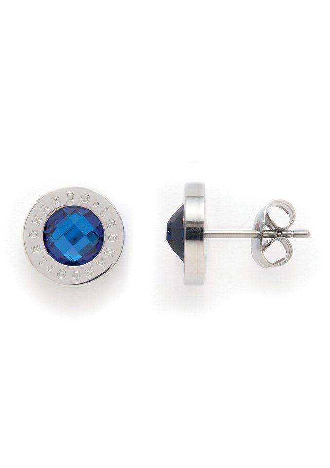 Oorstekers Jewels by Leonardo 'Matrix blauw'
