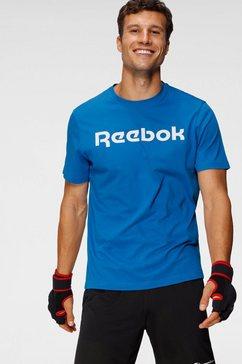 reebok t-shirt »reebok linear read tee« blauw