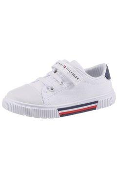 tommy hilfiger sneakers migos met extra klittenbandsluiting wit