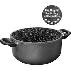 stoneline kookpan ø 24 cm, inductie, incl. stoffen tas (1-delig) grijs