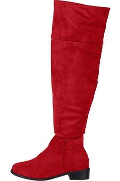 overknee-laarzen rood