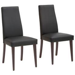 my home stoel mary poten naar keuze naturel-beuken of wengékleur, in een set van 2 (set, 2 stuks) zwart