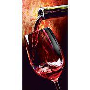 glazen artprint wine in 2 afmetingen rood