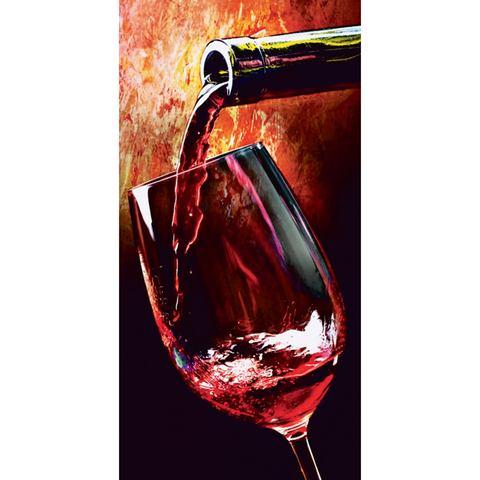 Glazen artprint Wine in 2 afmetingen