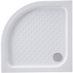 welltime ronde douchebak summer kwartcirkelvormige douchebak, bxd: 90x 90 cm, 90 cm x 90 cm (set) wit