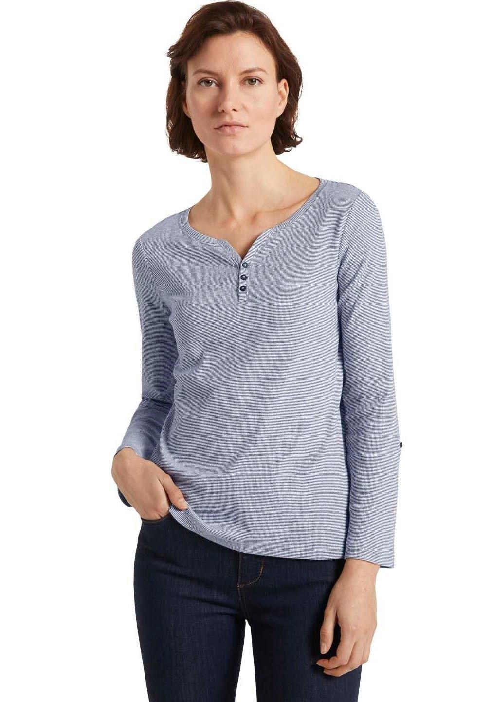 Tom Tailor shirt met lange mouwen met henleyhals in de webshop van OTTO kopen