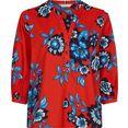tommy hilfiger curve blouse zonder sluiting crv voile floral blouse 3-4 slv met grote bloemenprint rood
