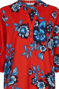 tommy hilfiger curve blouse zonder sluiting met grote bloemenprint rood