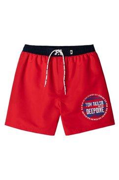 tom tailor zwemshort in trendy unikleur rood