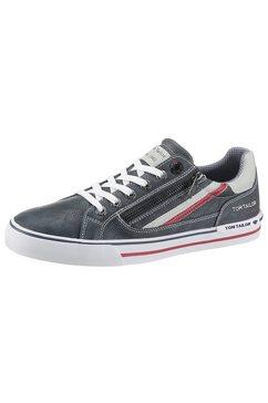 tom tailor sneakers met contrastbeleg blauw