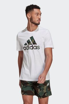 adidas performance t-shirt »essentials camouflage print« wit