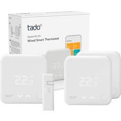 tado ruimtethermostaat smart thermostat-starter kit v3+ mit 2 zusaetzlichen smart thermostaten wit