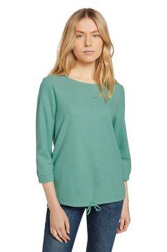 tom tailor shirt met lange mouwen met strikbandjes bij de zoom groen
