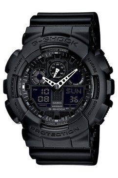 casio g-shock chronograaf »ga-100-1a1er« zwart