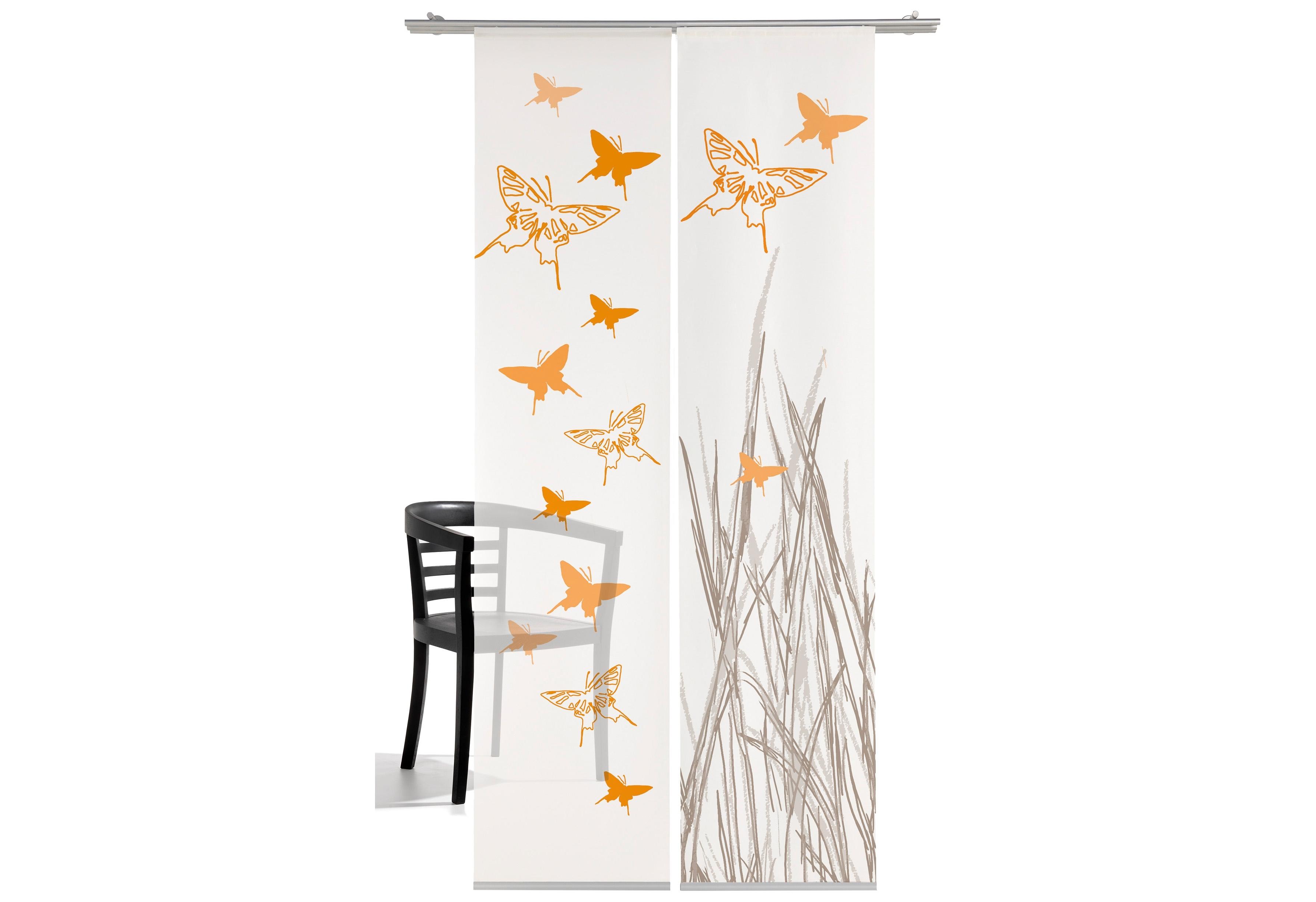 emotion textiles Paneelgordijn Vlinder HxB: 260x60, inclusief bevestigingsmateriaal (2 stuks) nu online kopen bij OTTO