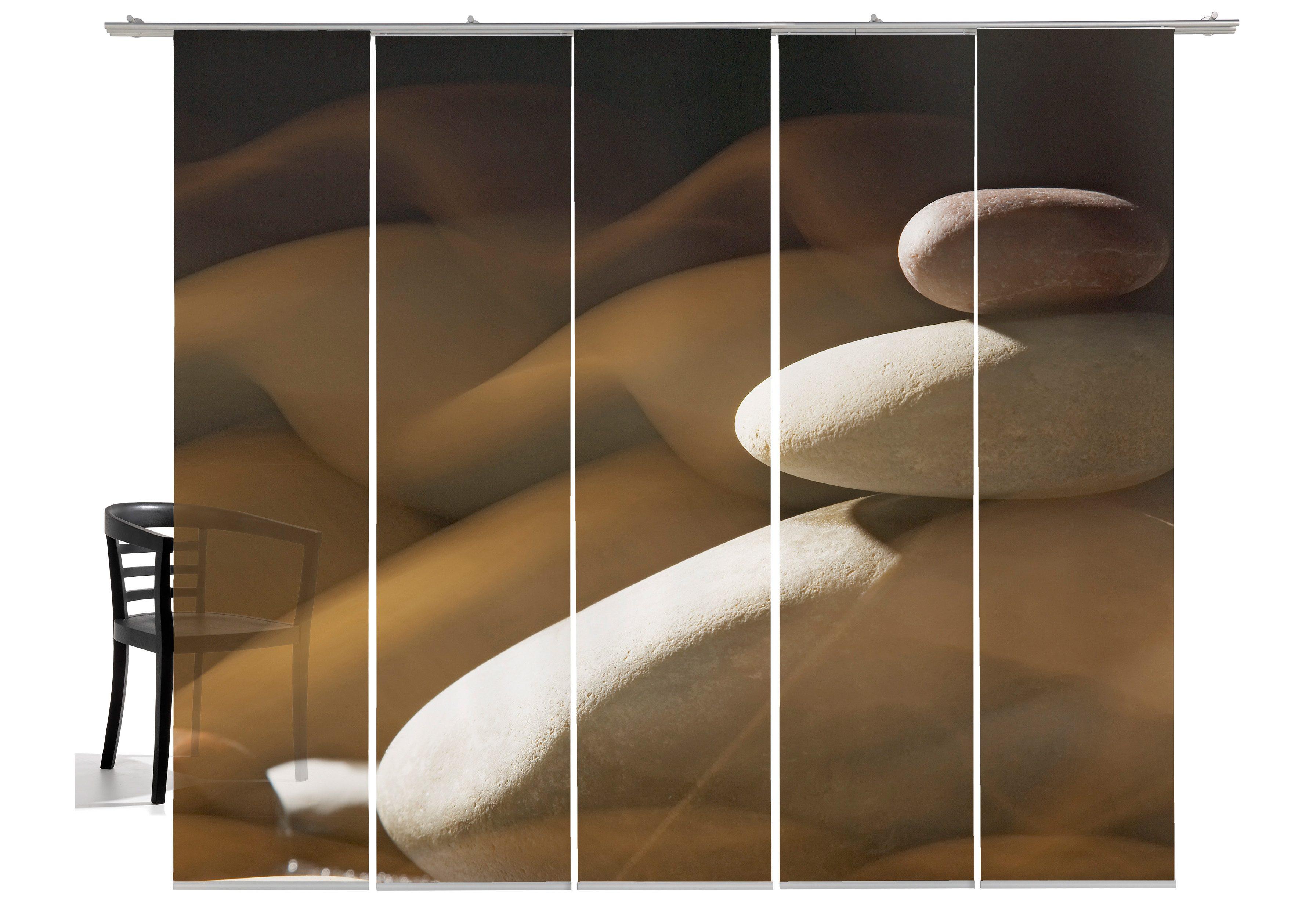 Paneelgordijn emotion textiles stenen muur« set van met