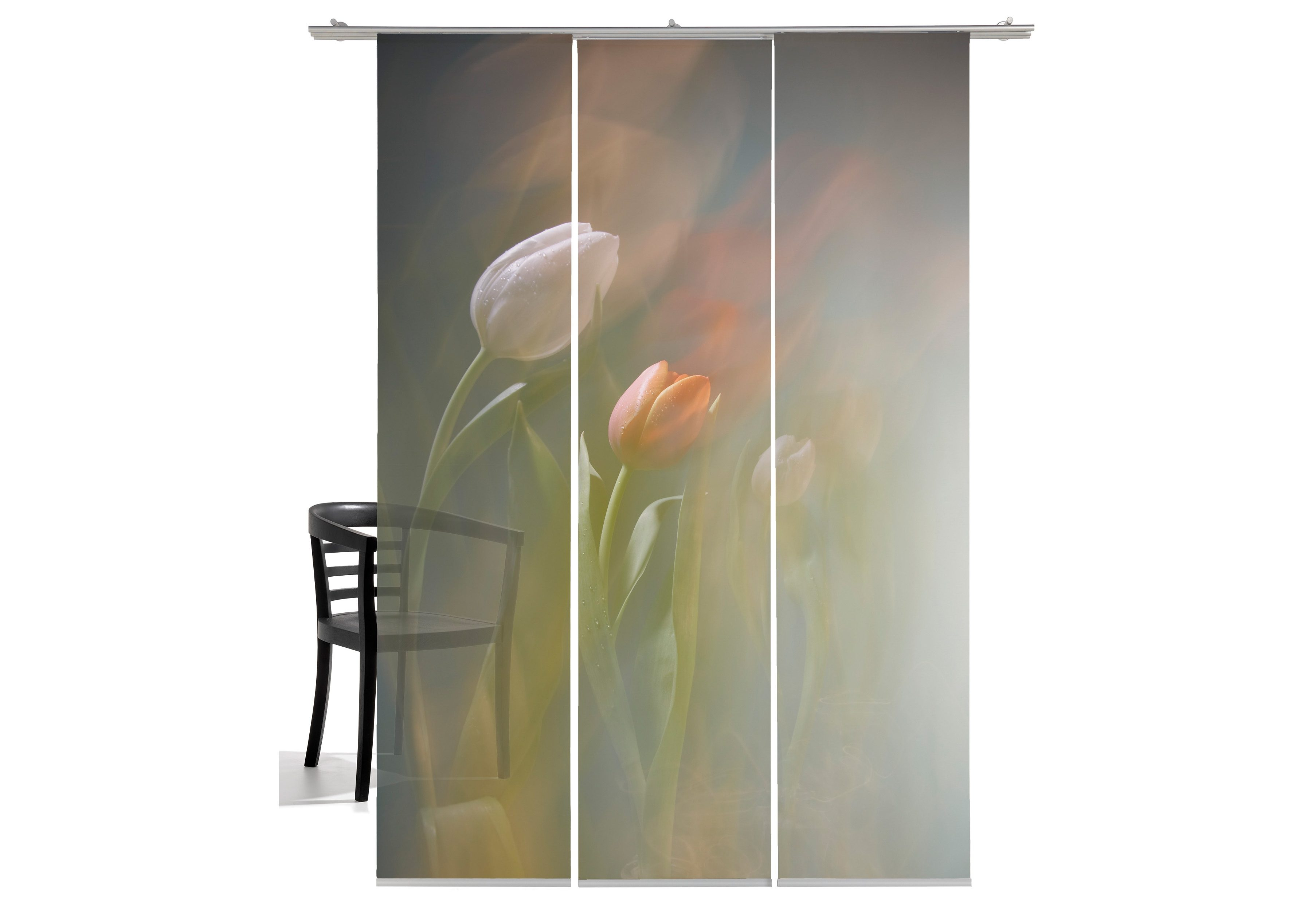 Paneelgordijn emotion textiles tulpen« set van met