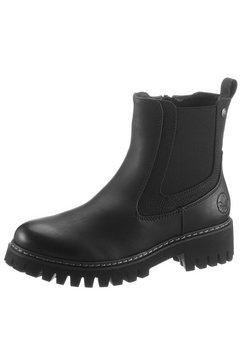 rieker chelsea-boots met sterk geprofileerde loopzool zwart