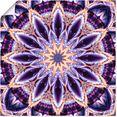 artland artprint mandala ster paars in vele afmetingen  productsoorten - artprint van aluminium - artprint voor buiten, artprint op linnen, poster, muursticker - wandfolie ook geschikt voor de badkamer (1 stuk) paars