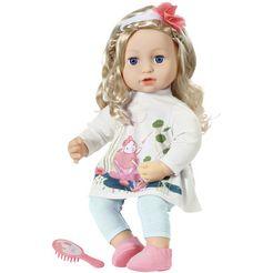 baby annabell babypop sophia, 43 cm met zachte haren multicolor