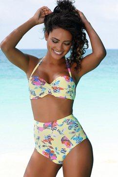 sunseeker highwaist-bikinibroekje jam met all-over print geel