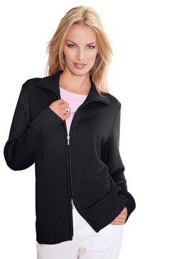 casual looks vest in comfortabele materialenmix zwart