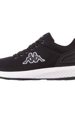kappa sneakers trustal met comfortabel zacht verdikte schachtrand zwart