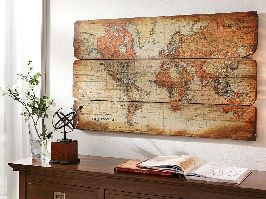 Artprint wereldkaart snel online gekocht otto for Weltkarte deko