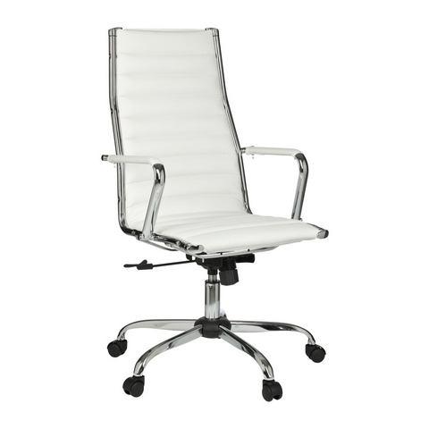 Bureaustoel met chromen onderstel