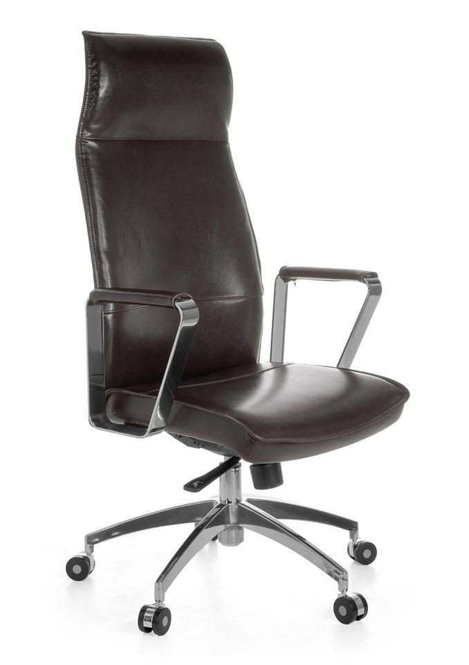 Bureaustoel in bruin of zwart