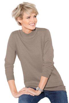 classic basics trui met staande kraag bruin