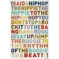 reinders! poster i said a hiphop gekleurd - hiphop - songtext - muziek (1 stuk) multicolor