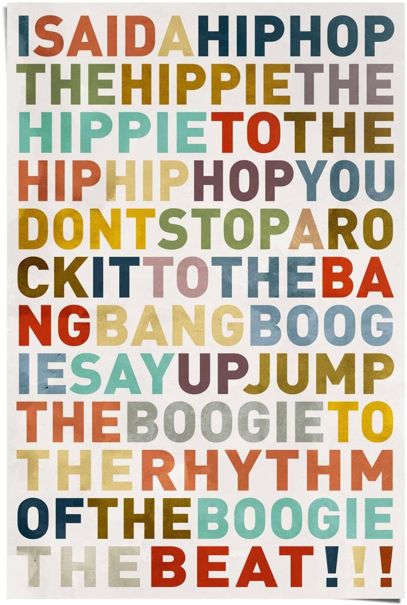 Reinders! poster I said a hiphop gekleurd - hiphop - Songtext - muziek (1 stuk) nu online kopen bij OTTO