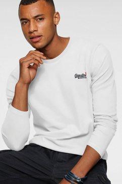 superdry shirt met lange mouwen »ol vintage emb ls top ns,« wit