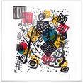 wall-art poster kandinsky kleine werelden abstract poster, artprint, wandposter (1 stuk) multicolor