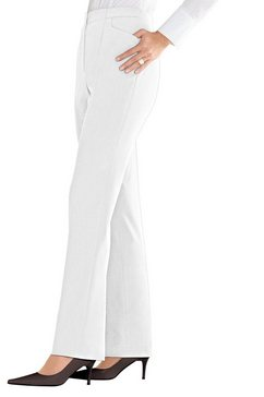 lady broek met onzichtbare, elastische inzet wit