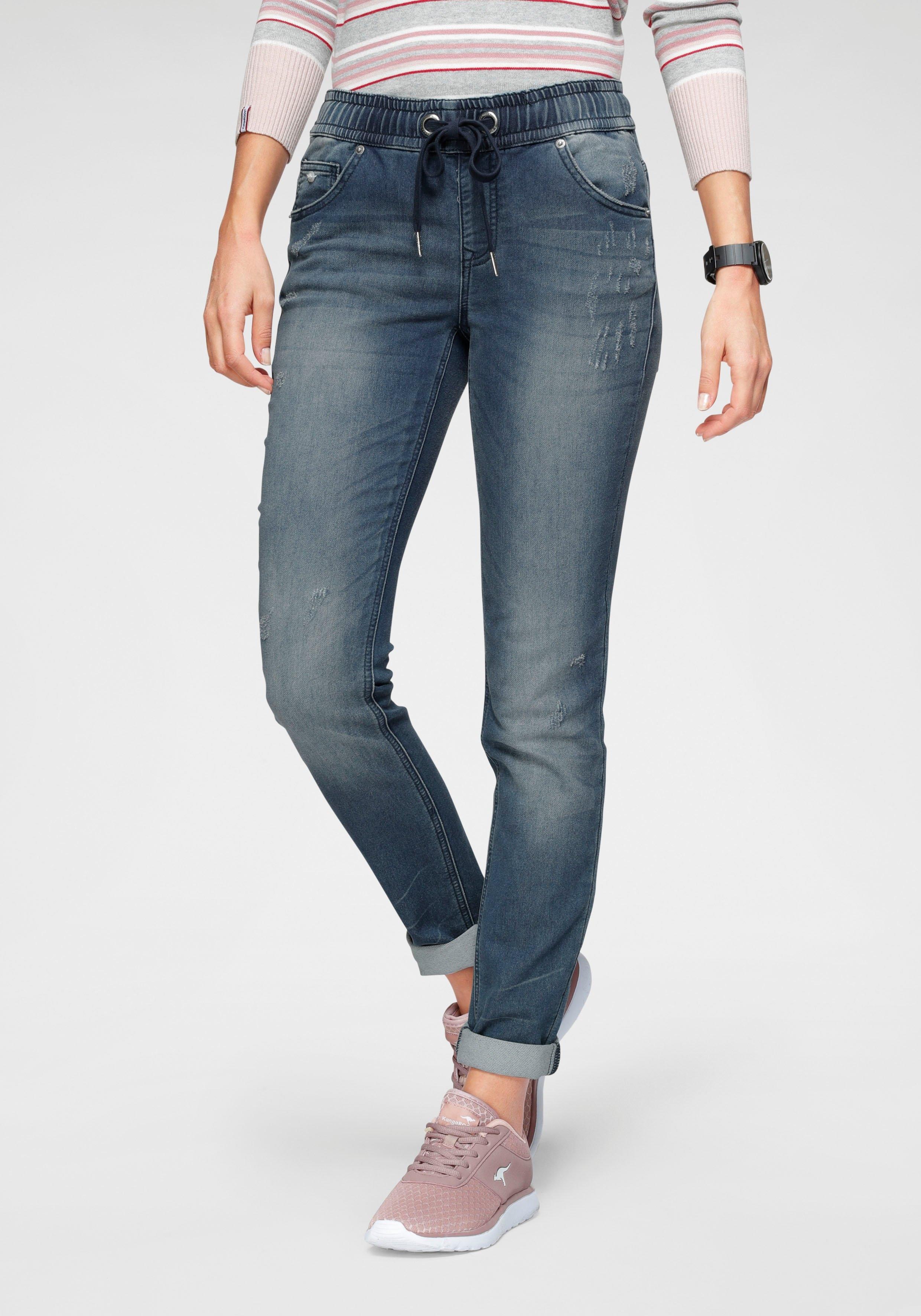 Op zoek naar een KangaROOS jogpants in denim-look met elastische boord? Koop online bij OTTO